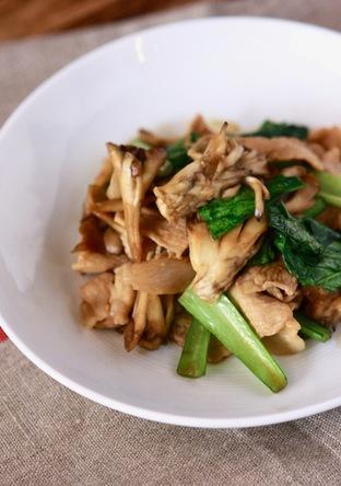 小松菜と舞茸と豚肉炒め
