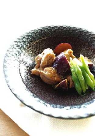 鶏肉とさつま芋の甘辛ハニーマヨ炒め