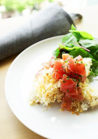 鰯のガーリック焼き トマト添え