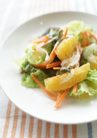 新玉葱とオレンジのサラダ