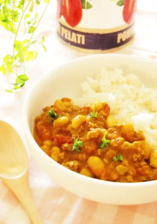 大豆とトマトと生姜のシンプルカレー