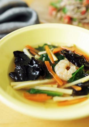 海老のエスニックスープ