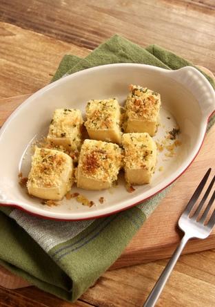 豆腐のパセリチーズパン粉焼き