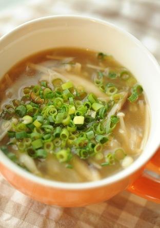 ヘルシー きのこの生姜スープ