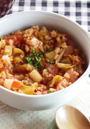 冷ご飯で 簡単トマトリゾット風