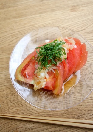 簡単丸ごと トマトサラダ