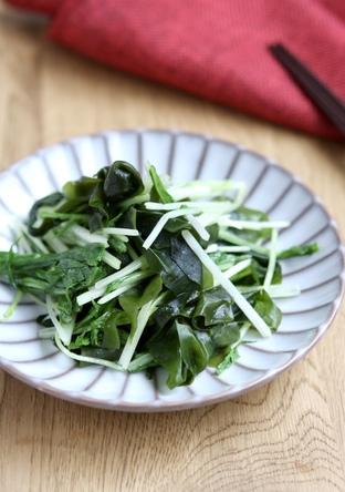 シャキシャキ 水菜のナムル
