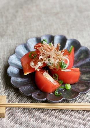 トマトとみょうがのおひたし