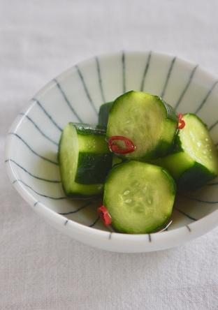 きゅうりの漬物 酢醤油味
