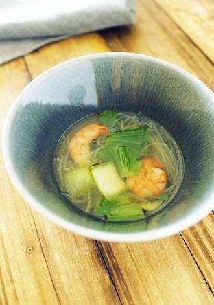 春雨入り えびと青梗菜のスープ