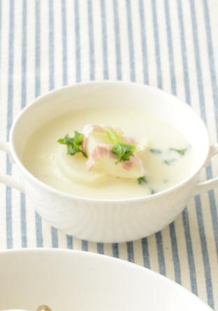 かぶの豆乳 味噌スープ