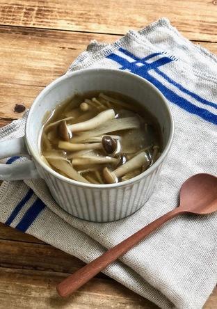 ごぼうときのこの快腸コンソメスープ