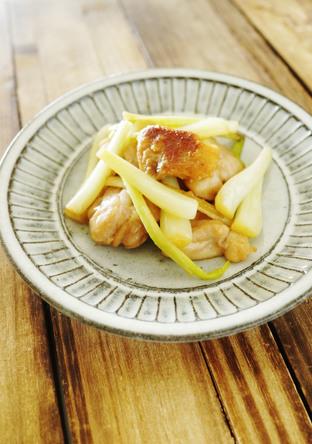 鶏肉とエシャロットの柚子胡椒炒め
