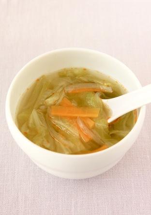 春キャベツたっぷり サンラータン風スープ