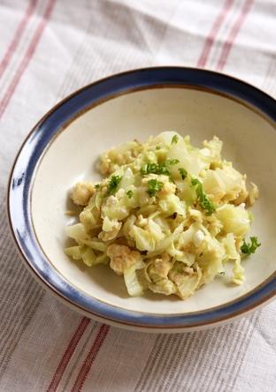 お弁当に キャベツと卵の洋風しりしり