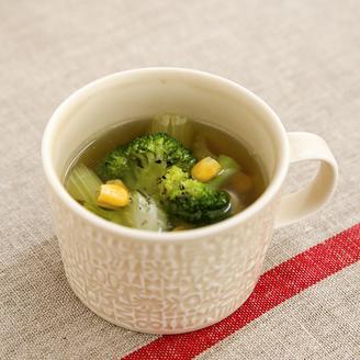 ブロッコリーとセロリのスープ