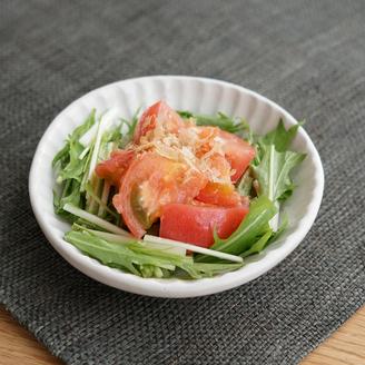 水菜とトマトの梅サラダ