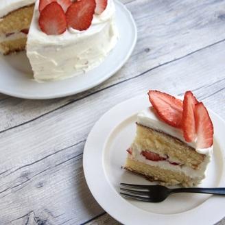 酢で簡単ホイップ  苺のショートケーキ
