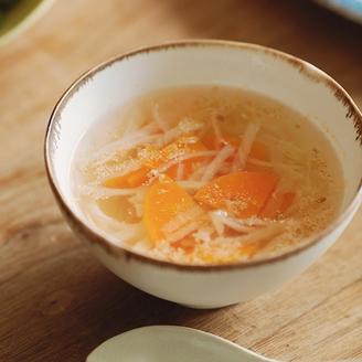 切り干し大根とにんじんのスープ