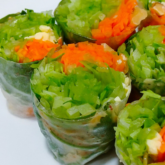 野菜たっぷり 生春巻き