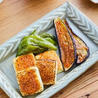 秋なすと焼き豆腐の田楽