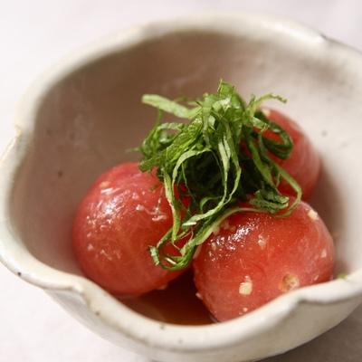 ミニトマトの冷たい煮物