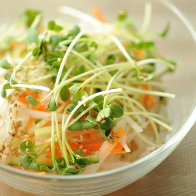 大根と人参の彩り胡麻サラダ