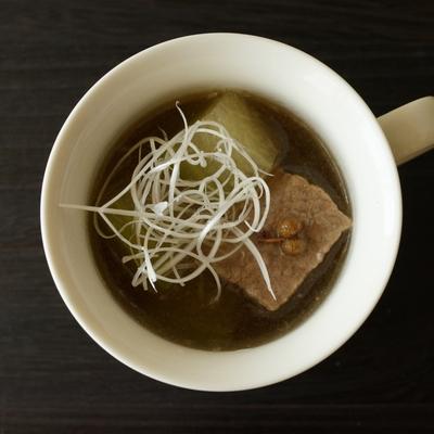 牛肉と冬瓜の中華スープ