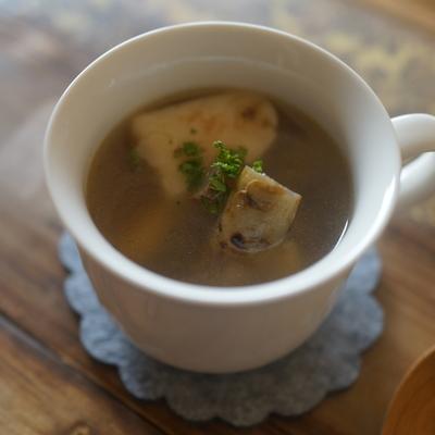 焼き長芋とごぼうのスープ