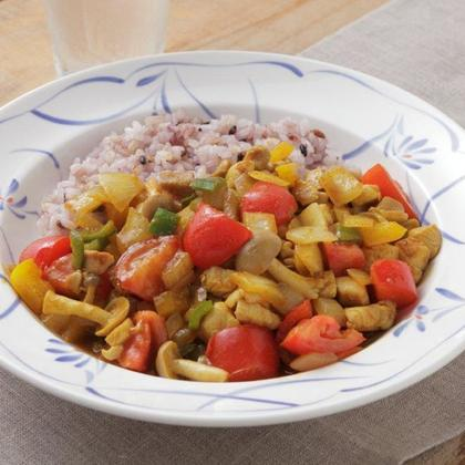 高知彩り野菜のドライカレー