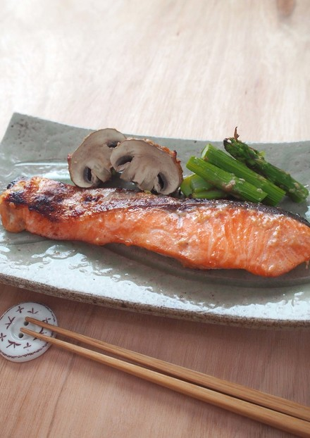 鮭と野菜のグリル~酒粕風味~