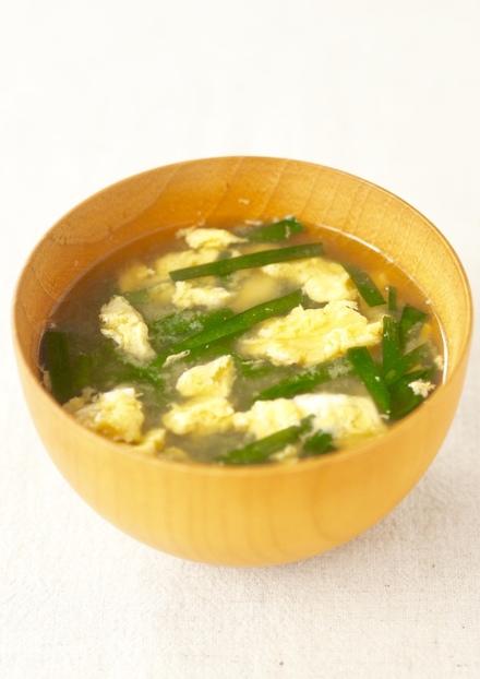 ニラたまのお味噌汁