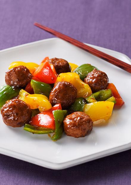 彩り野菜肉団子