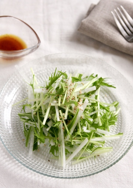 大根と水菜のハリハリサラダ 柚子胡椒風味