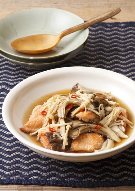 秋鮭ときのこのカンタン南蛮酢