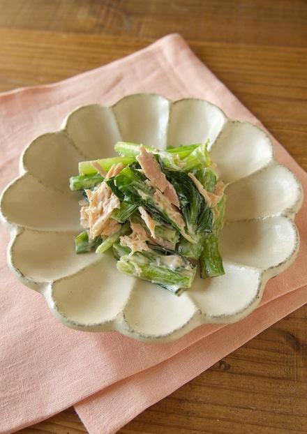 小松菜とツナのマヨぽん和え