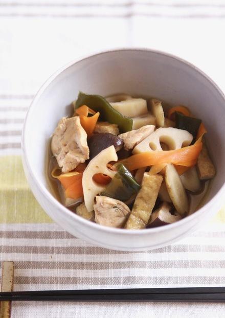 根菜と鶏肉の煮物