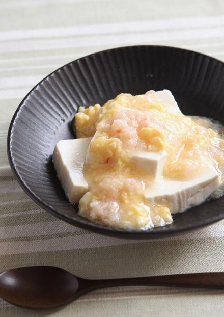 豆腐のかに卵あんかけ