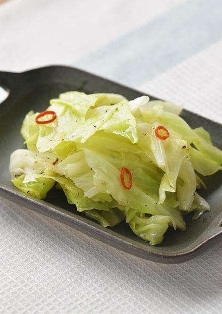 キャベツのペペロン風ホットサラダ
