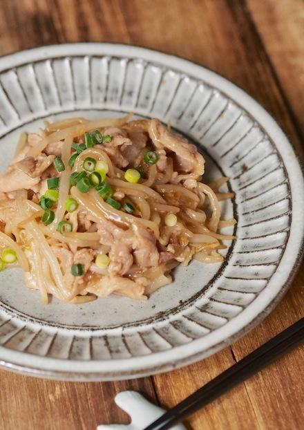 生姜焼き味 豚ともやしのとろみ炒め