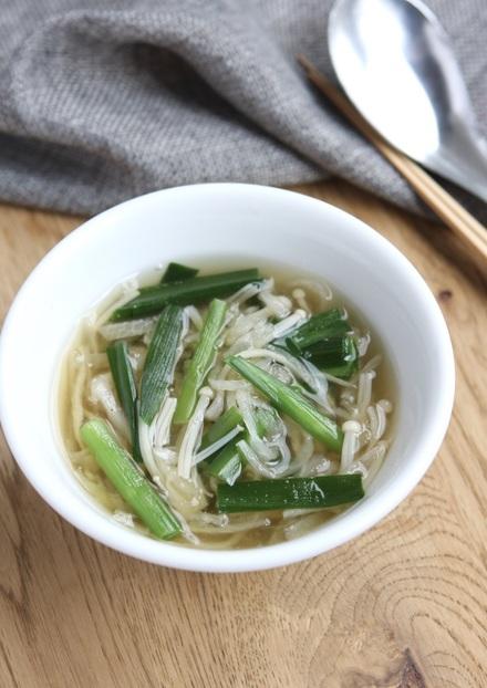 切り干し大根とにらの中華スープ