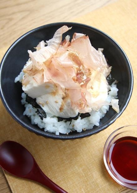 簡単豆腐丼