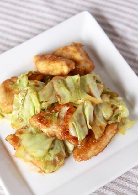 鶏ムネ肉とキャベツの回鍋肉風