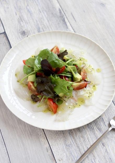鯛のカルパッチョ キウイソース