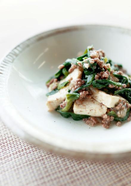 すき焼き風 ひき肉と豆腐の煮込み