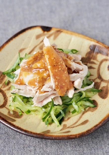 棒々鶏風 鶏肉とキュウリの甘味噌和え