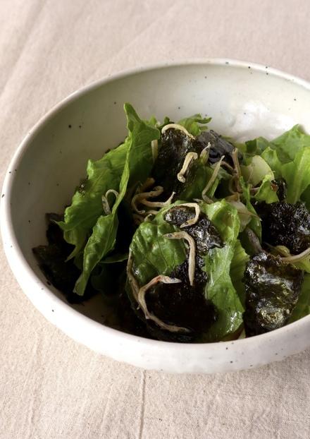 レタスと海苔だけで美味しいサラダ
