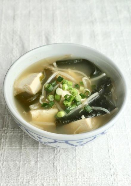 ダイエット食 豆腐もやしスープ