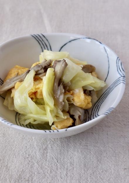 舞茸美味しい キャベツといり卵のサラダ