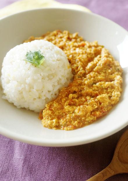 マカ入り豆腐ドライカレー
